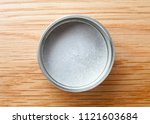 metal can for tea packaging on... | Shutterstock . vector #1121603684