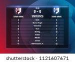 vector template of soccer...   Shutterstock .eps vector #1121607671