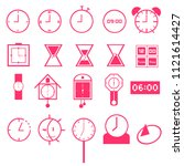 vector set of pink tone mix...