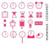 vector set of pink tone mix...
