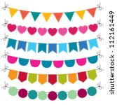 cute vector bunting set