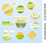 collection of green labels and... | Shutterstock .eps vector #1121622344