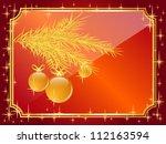 vector christmas card | Shutterstock .eps vector #112163594