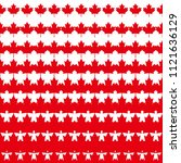 red maple leaf pattern with...   Shutterstock .eps vector #1121636129