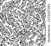 vector seamless outline pattern ... | Shutterstock .eps vector #1121637581