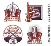 rock and roll music vector... | Shutterstock .eps vector #1121640554