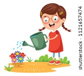 vector illustration of kid... | Shutterstock .eps vector #1121657474