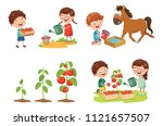 vector illustration of kid... | Shutterstock .eps vector #1121657507