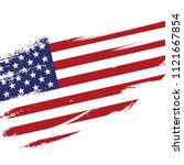 american flag in grunge... | Shutterstock .eps vector #1121667854