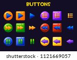 colorful game design ui buttons ...