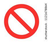 no entry  forbidden | Shutterstock .eps vector #1121678864