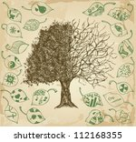 Hand Drawn Tree Of Contrasts