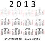 Basic 2013 Calendar In A 4x3...