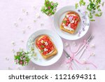 delicious french toast with... | Shutterstock . vector #1121694311