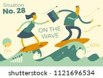 business infographics with...   Shutterstock .eps vector #1121696534