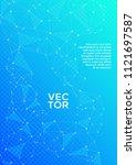 vector report template. global... | Shutterstock .eps vector #1121697587