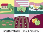 collection of few flat style... | Shutterstock .eps vector #1121700347