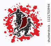 soccer player action designed... | Shutterstock .eps vector #1121703944