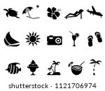tropical island vacation icons... | Shutterstock .eps vector #1121706974
