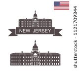 state of new jersey. new jersey ... | Shutterstock .eps vector #1121709344