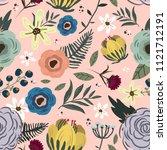 floral seamless pattern | Shutterstock .eps vector #1121712191