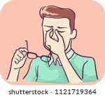 illustration of a man massaging ... | Shutterstock .eps vector #1121719364