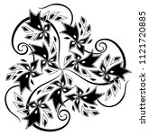 fantasy celtic disk ornament...   Shutterstock .eps vector #1121720885