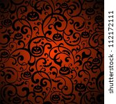 halloween background.... | Shutterstock . vector #112172111