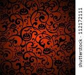 halloween background.... | Shutterstock . vector #112172111