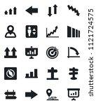 set of vector isolated black... | Shutterstock .eps vector #1121724575
