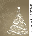 Stylized Christmas Tree On...