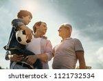 feeling proud. exuberant... | Shutterstock . vector #1121732534
