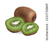 kiwi on white background | Shutterstock . vector #1121733869