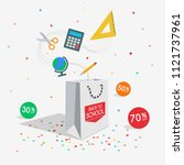special back to school offer... | Shutterstock .eps vector #1121737961
