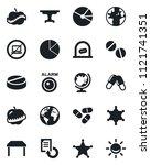 set of vector isolated black... | Shutterstock .eps vector #1121741351