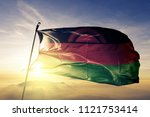 malawi national flag textile... | Shutterstock . vector #1121753414