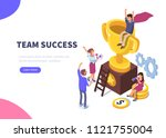 success concept banner. can use ... | Shutterstock . vector #1121755004