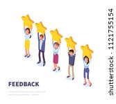 feedback or rating  concept... | Shutterstock . vector #1121755154