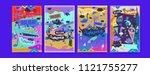 set of summer illustration for...   Shutterstock .eps vector #1121755277