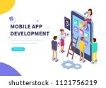 mobile app development concept ... | Shutterstock . vector #1121756219