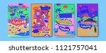 set of summer illustration for...   Shutterstock .eps vector #1121757041