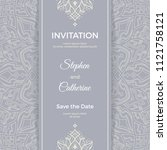 save the date invitation card... | Shutterstock .eps vector #1121758121