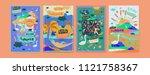 set of summer illustration for... | Shutterstock .eps vector #1121758367