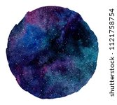 colorful cosmic round... | Shutterstock . vector #1121758754