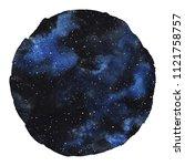cosmic round background... | Shutterstock . vector #1121758757