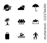 vector summer  travel  vacation ... | Shutterstock .eps vector #1121766281