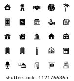 vector real estate icons  sale... | Shutterstock .eps vector #1121766365