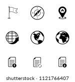 vector map  navigation  road... | Shutterstock .eps vector #1121766407