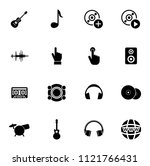 vector sound music icons set  ... | Shutterstock .eps vector #1121766431