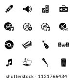 vector sound music icons set  ... | Shutterstock .eps vector #1121766434